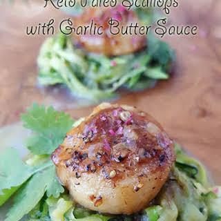 Keto Paleo Scallops with Garlic Butter Sauce.
