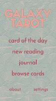 Screenshot of Galaxy Tarot Pro