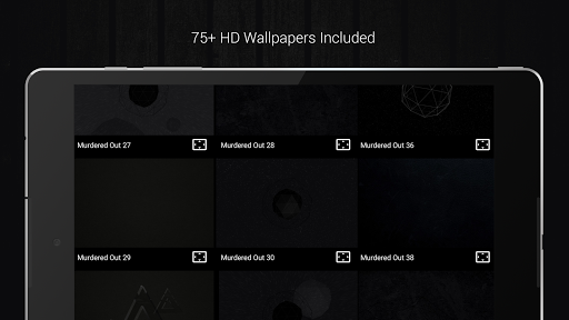 Murdered Out - Black Icon Pack (Pro Version)  screenshots 9