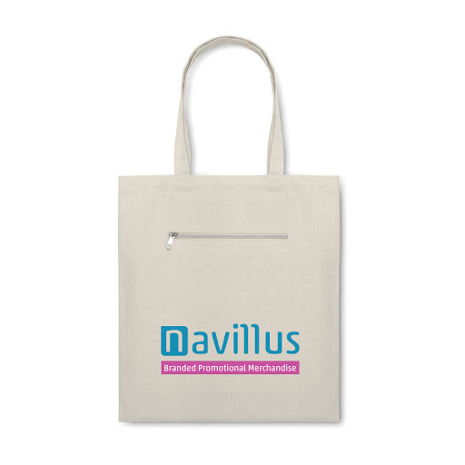 Organic Zipped Canvas Tote Bag