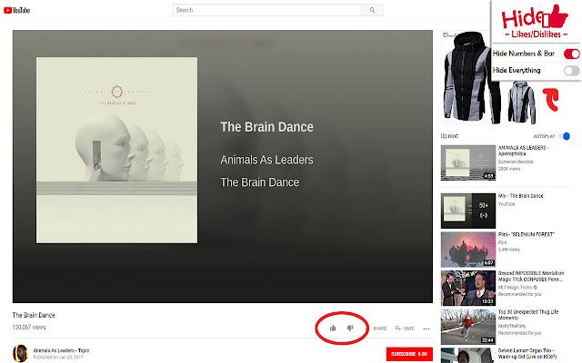 Hide Youtube Likes/Dislikes