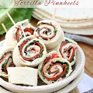 Italian Sub Sandwich Tortilla Pinwheels Recipe