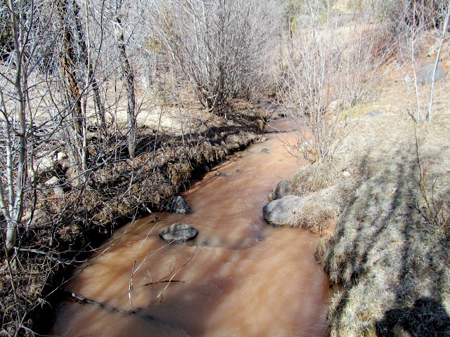 Red Creek running red
