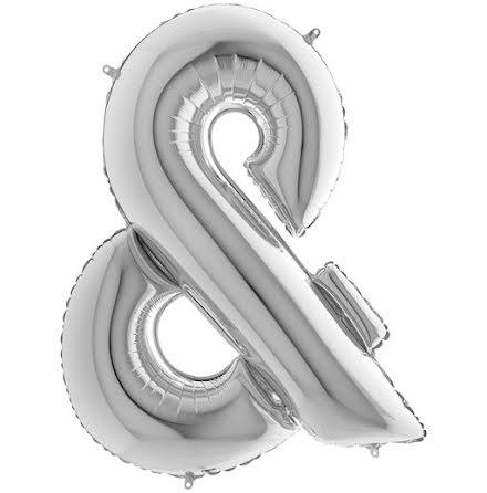 Ballongtecken - & silver