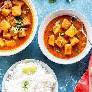 Instant Pot Thai Pumpkin Curry with Jasmine Rice.