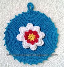 Photo: Pegador de panelas em crochet- Crochet Potholder