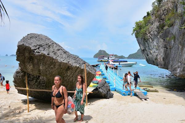 Arrival at Koh Mae Ko Island