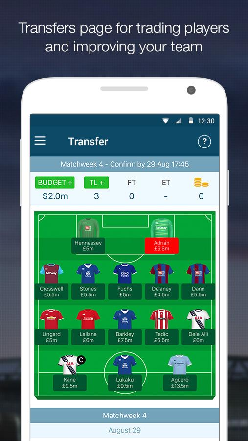 EPL Manager Fantasy- screenshot