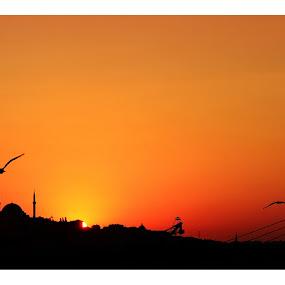 Sunset from Galata Bridge by Mohamed Alzwei - Landscapes Sunsets & Sunrises