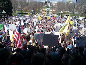Photo: Creative Commons image by Ari Armstrong. This photo shows a 2009 Tea Party rally in Denver.