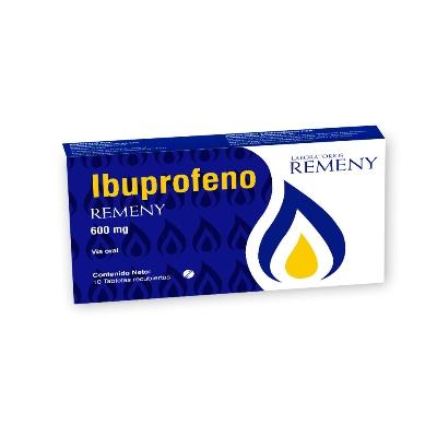 Ibuprofeno Remeny 600 mg x 10 Tabletas
