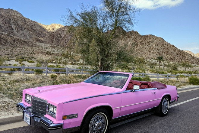 Bubble Gum Pink Cadillac Hire California