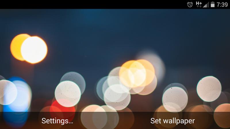 Скриншот Bokeh Light 3D Live Wallpapers