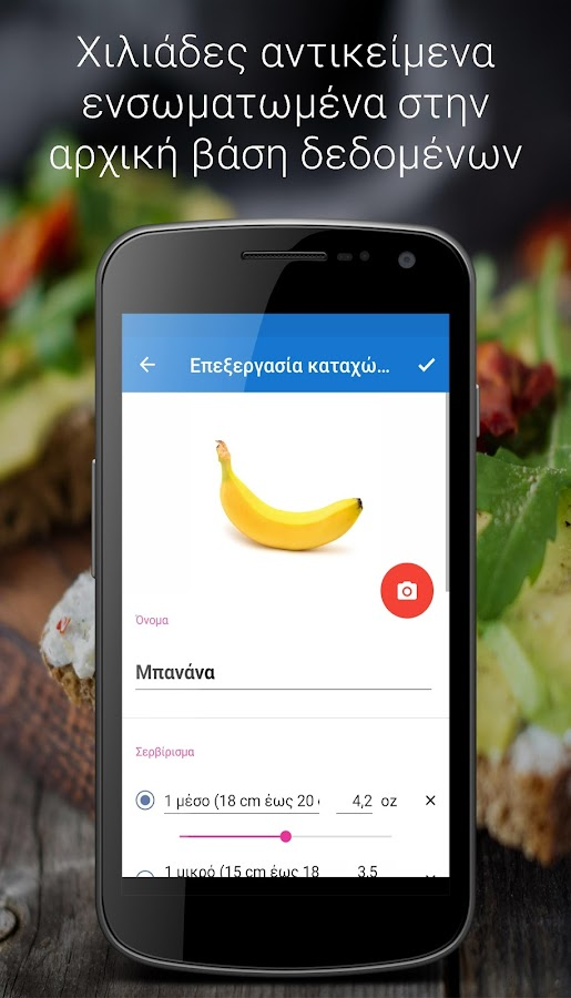 ΗμερολόγιοΔιατροφής - στιγμιότυπο οθόνης