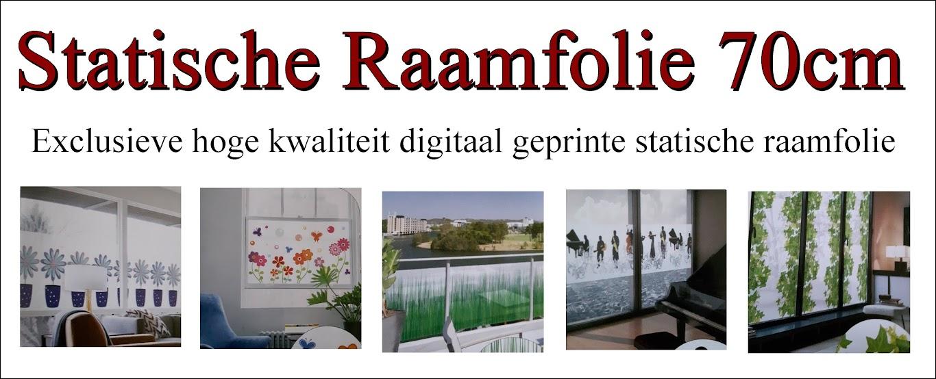 Statische raamfolie digital printing