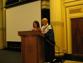 Photo: The Sheriff of Nottingham and the Sheriff's Lady ready to present awards at Nottinghamshire's Rainbow Heritage Celebration 28.2.2012