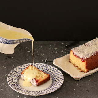 Jam And Coconut Sponge.