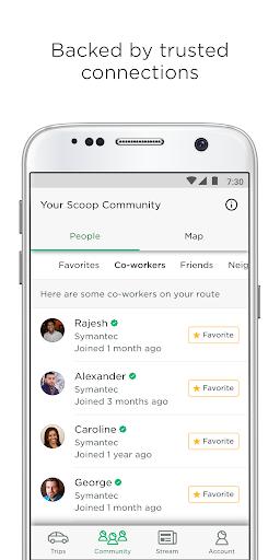 Scoop - Carpool with Co-Workers & Neighbors App Report on