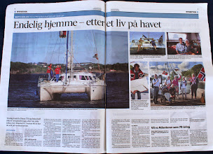 """Photo: And a big and a bit exaggerated spread inside: """"Finally at home - after a life on the sea""""!"""