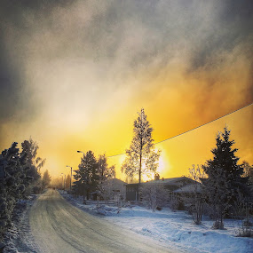 Winter sunset by Mona Martinsen - Instagram & Mobile iPhone ( norway )