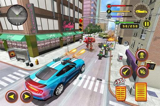 US Police Transform Robot Car White Tiger Game 1.2 screenshots 16