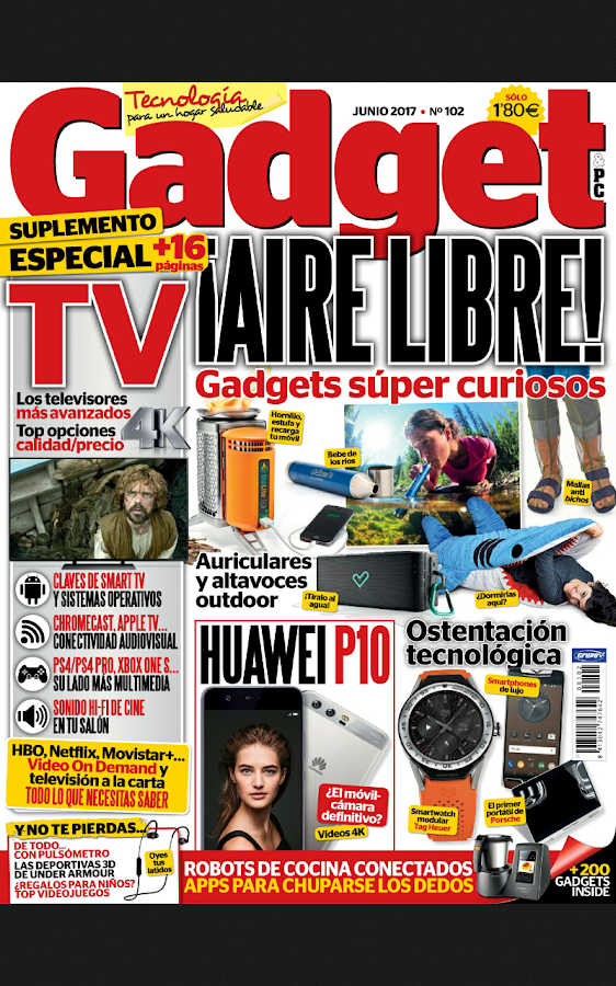 Gadget Revista: captura de pantalla