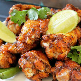 Baked Thai Chicken Wings.