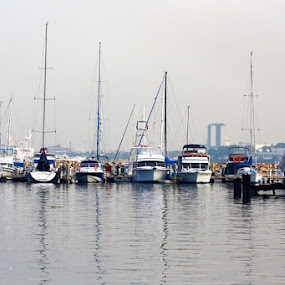 At Harbor Square by Wohvener Amada - Transportation Boats ( yatch, boats, boat,  )