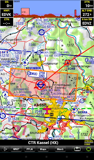 Sky-Map - Aviation Moving Map screenshot 1