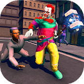 Real Scary Clown Halloween Night City Attack Games
