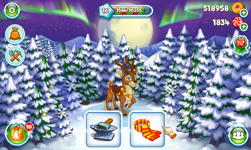 Farm Snow: Happy Christmas Story With Toys & Santa 1.74 com.foranj.newyeartale apkmod.id 4