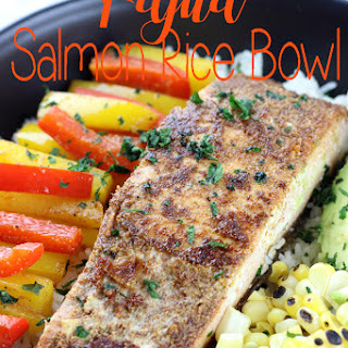 Fajita Salmon Rice Bowl.