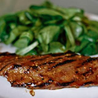 Miso Glazed Flank Steak.