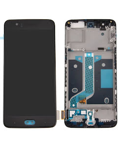 OnePlus 5 LCD Display with Frame Black