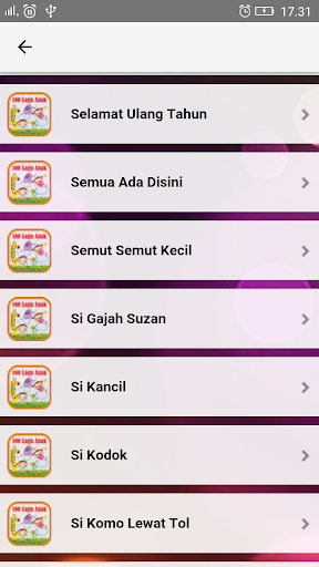 Lagu Anak Indonesia TK & PAUD  screenshots 8