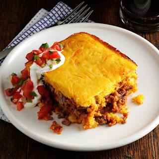 Chili Beef Corn Bread Casserole Recipe