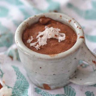 Chocolate Coconut Milk Pudding.