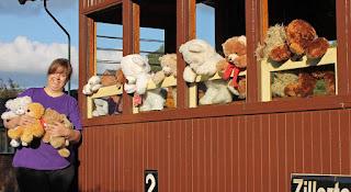 Teddy Bears on the railway