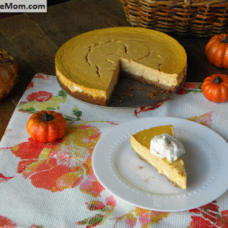 Lightened Up Gluten Free Pumpkin Cheesecake {No Sugar Added}