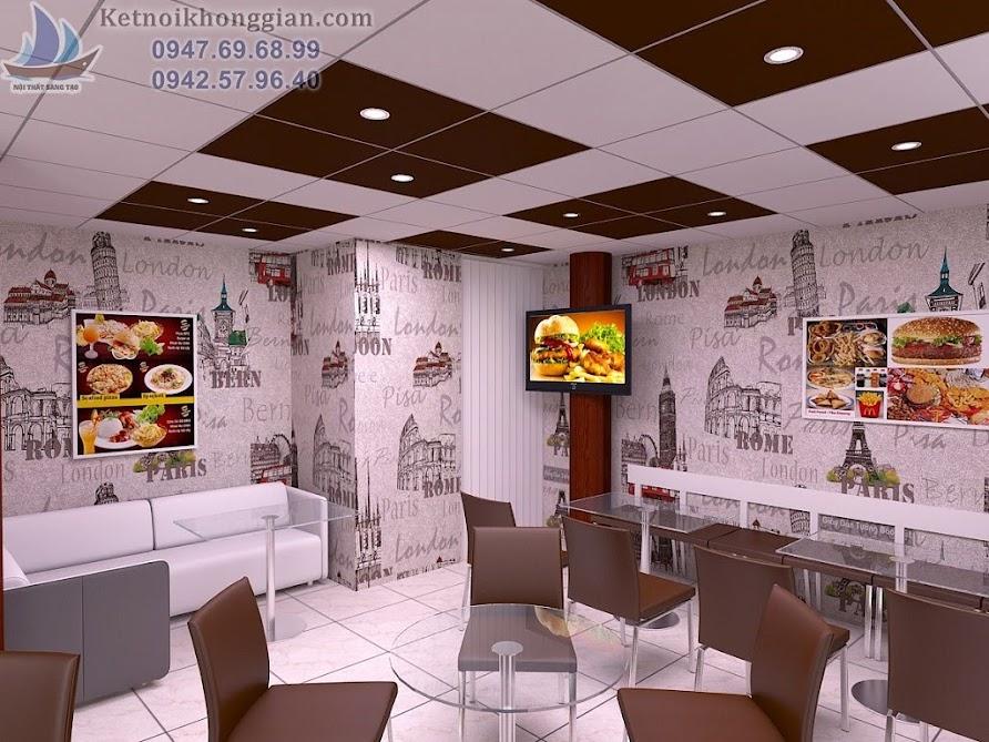 thiết kế cửa hàng bánh ngọt biến tấu nội thất