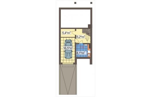 Mozaika segment środkowy - Rzut piwnicy