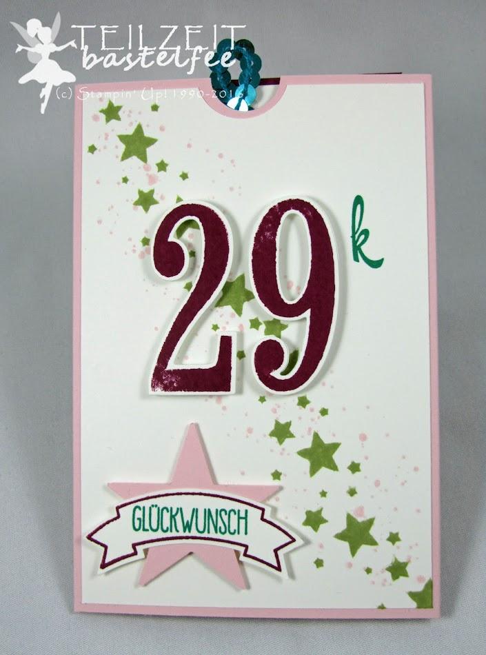 Stampin' Up! – In{k}spire_me #266, Color Challenge, Double Slider Card, Gorgeous Grunge, Perpetual Birthday Calendar, Brushwork Alphabet, So viele Jahre, Number of Years, Grüße voller Sonnenschein, Sunshine Sayings, Bannerweise Grüße, Thoughtful Banners, Stylized Birthday, Simply Stars