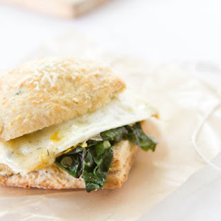 Herb Biscuit And Egg Sandwich