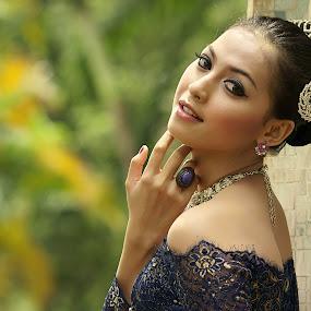 The Beauty by Arrahman Asri - People Fashion ( face, fashion, woman, beautiful, kebaya, beauty, portrait )