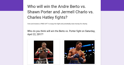 Who will win the Andre Berto vs. Shawn Porter and Jermell Charlo vs. Charles Hatley fights?
