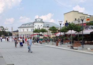 Photo: Pristinan keskustan kävelykatua