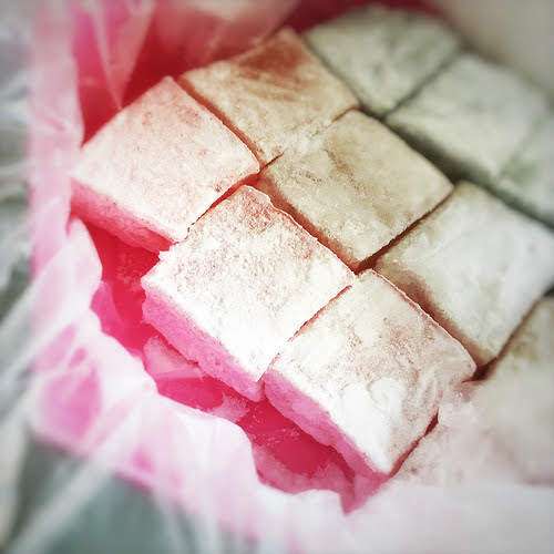 Turkish Delight, candy, rose flavor, Sorbet, ice, lokum, recipe, 土耳其軟糖, 冰糕, 玫瑰味