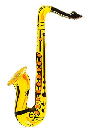 Uppblåsbar saxofon