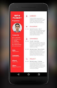 resume builder app screenshot thumbnail - Resume Builder App