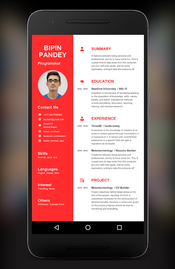 My Resume Builder CV Free Jobs     Android Apps on Google Play html resume builder career resume builder doc example first job sample how  career resume builder cover